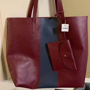 Jcrew leather tote.  New with tags.